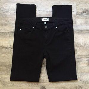 Paige Skyline Skinny Black Shadow Jeans